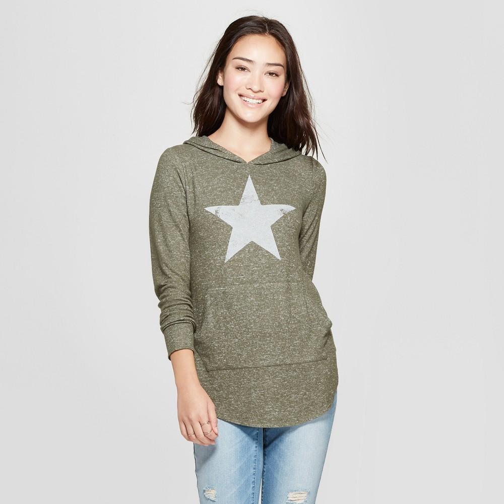 Women's Star Hooded Graphic Sweatshirt - Grayson Threads (Juniors') Green XL