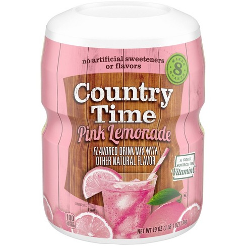Country Time Pink Lemonade Drink Mix - 19oz Canister - image 1 of 4