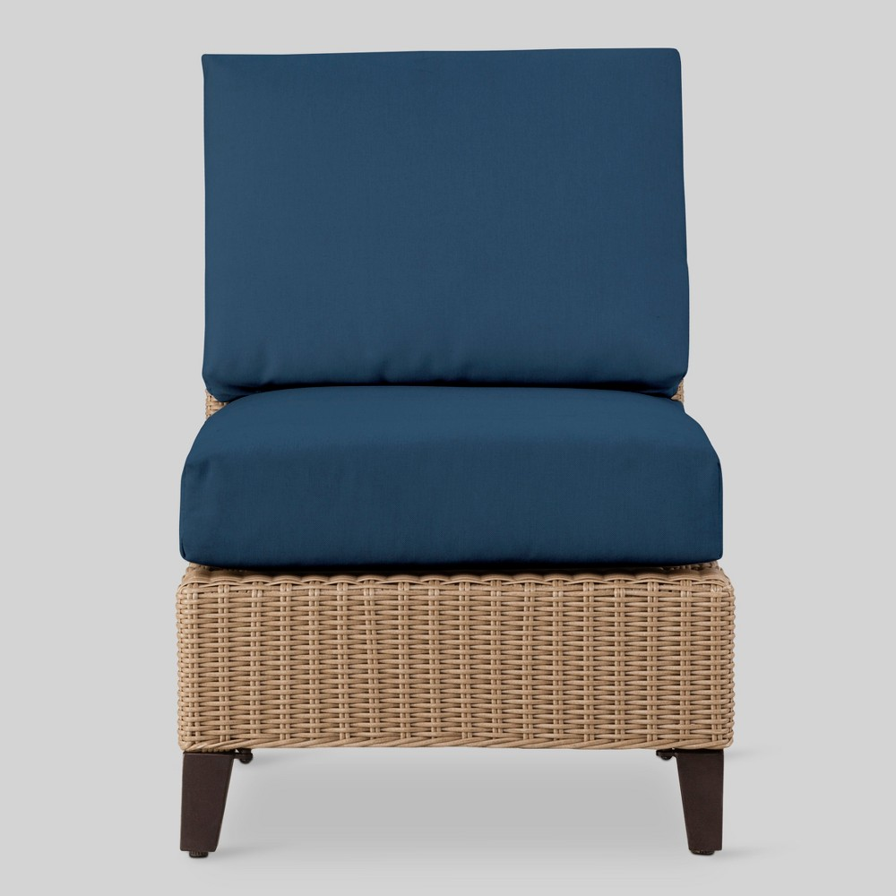 Fullerton Wicker Patio Armless Sectional Seat - Navy (Blue) - Project 62