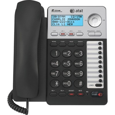 AT&T ML17929 Standard Phone - Silver - 2 x Phone Line - Speakerphone - Backlight