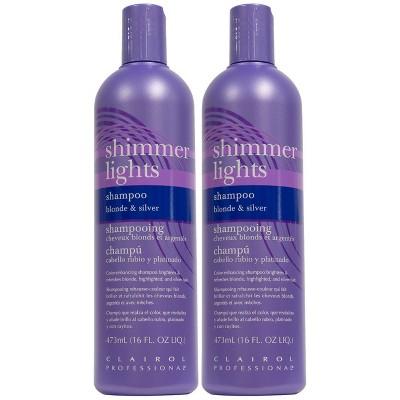 Clairol Shimmer Lights Shampoo - Blonde & Silver - 2pk/16 fl oz Each