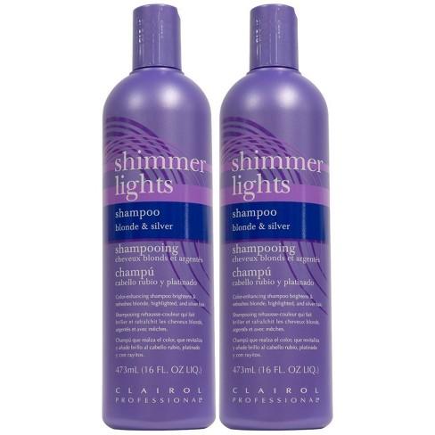 Clairol Shimmer Lights Shampoo - Blonde & Silver - 2pk/16 fl oz Each - image 1 of 3