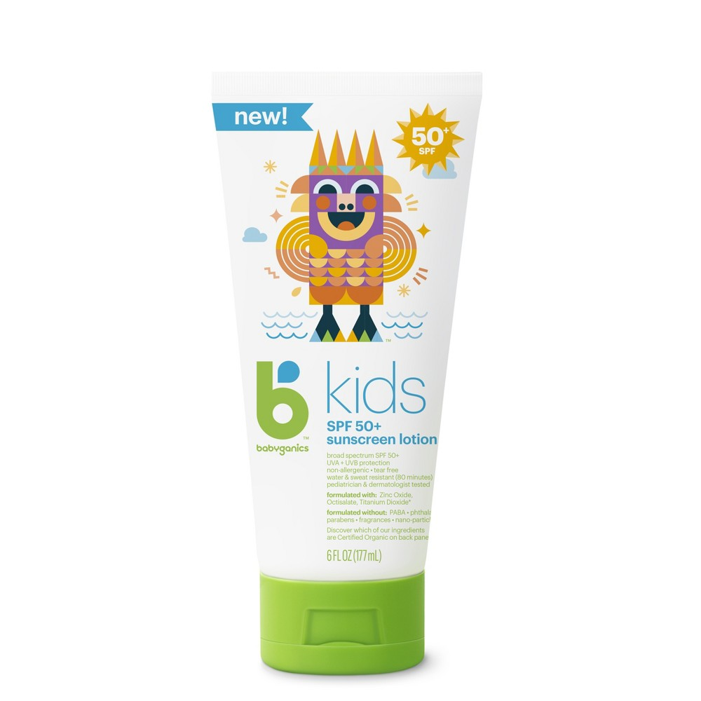 Image of Babyganics BKids Sunscreen - SPF 50 - 6 fl oz