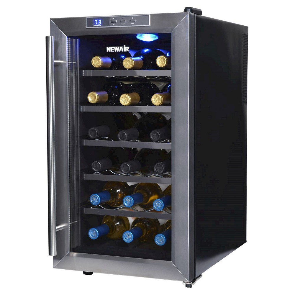 NewAir 18 Bottle Thermoelectric Wine Cooler – Stainless Steel (Silver) AW-181E 50149115