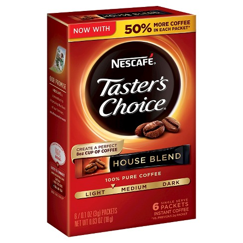 Nescaf Taster's Choice Medium Roast House Blend Instant Coffee - 6ct - image 1 of 4