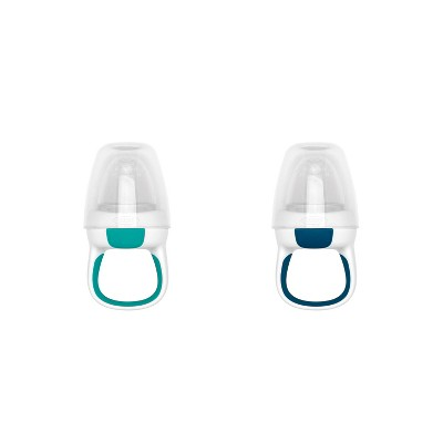 OXO Tot Silicone Self Feeder - 2pk - Navy/Teal
