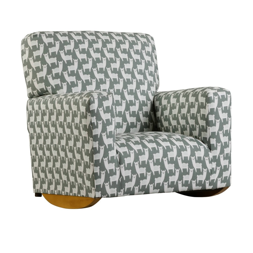 Image of Kids Upholstered Sallie Rocker Alpaca Teal Gray - Chapter 3