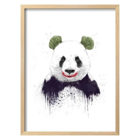 Joker Face By Balazs Solti Framed Wall Art Poster Print 19\