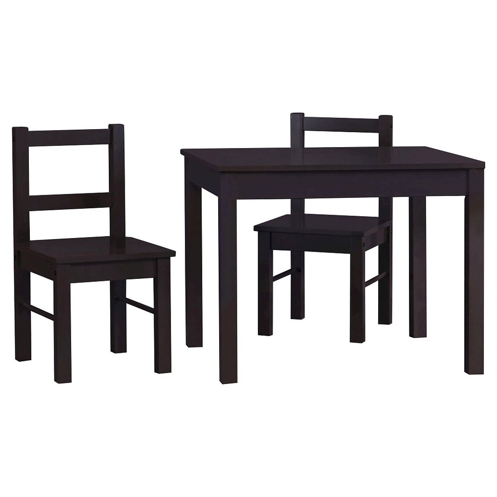 Image of 3pc Scout Kids Table and Chairs Set Espresso - Room & Joy