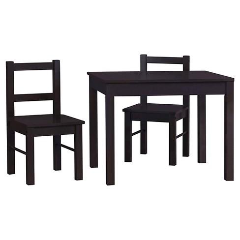 Wondrous Scout Kids Table And Chairs 3Pc Set Espresso Room Joy Dailytribune Chair Design For Home Dailytribuneorg