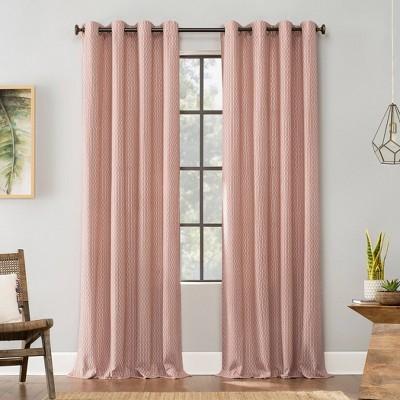 Geometric Deco Cotton Grommet Top Curtain - Archaeo