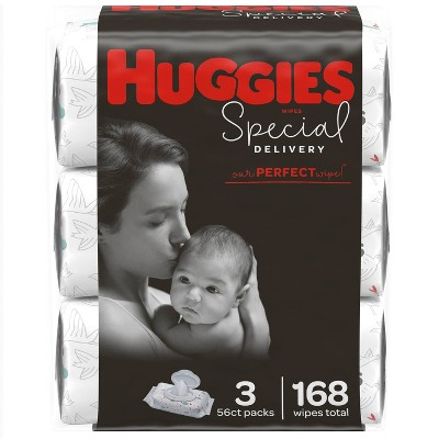Huggies Special Delivery Hypoallergenic Unscented Baby Wipes, Flip-top Pack - 168ct