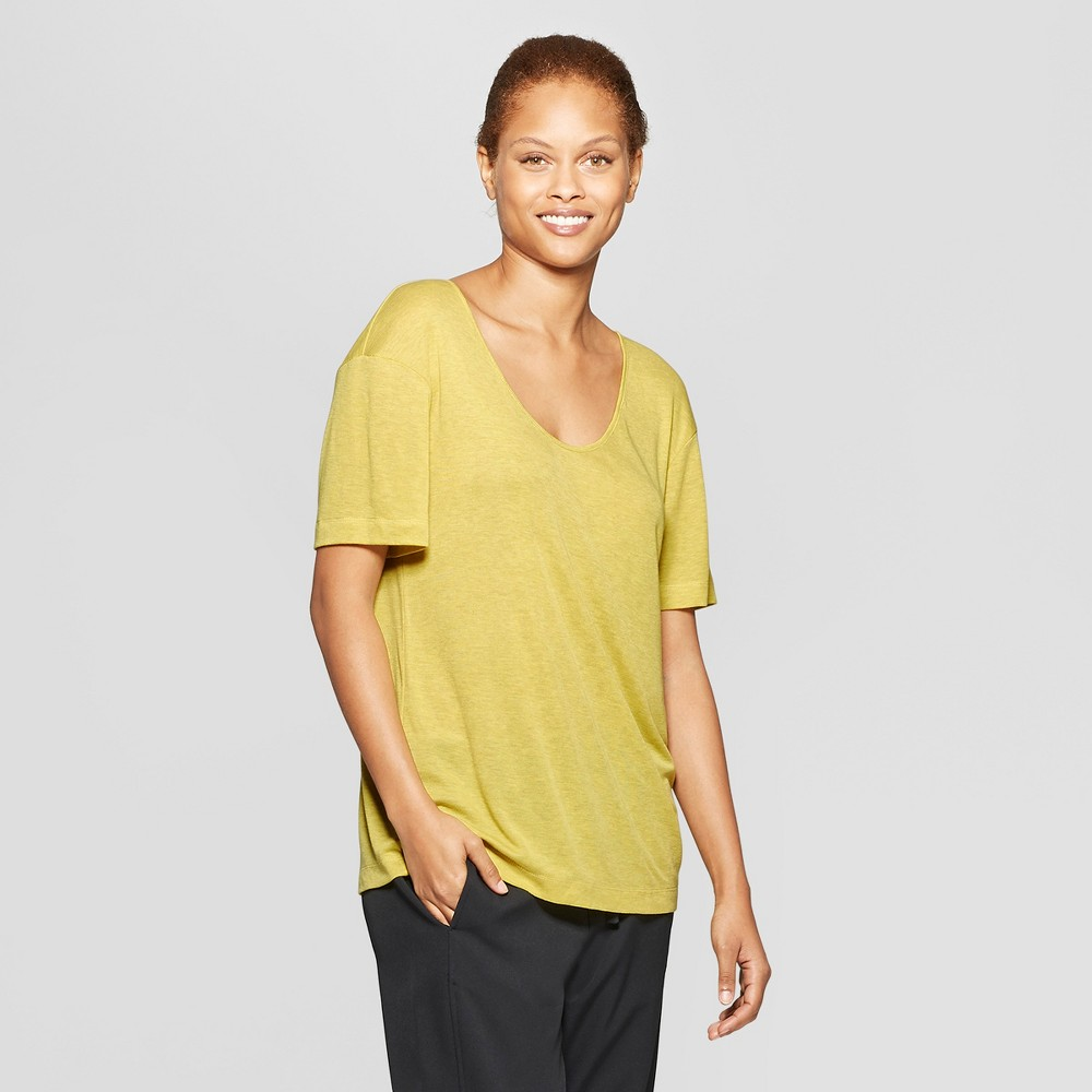 Women's Short Sleeve Drapey T-Shirt - Prologue Yellow S