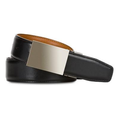 SWISSGEAR Men's Reversible Plaque Buckle Belt - Black/Tan