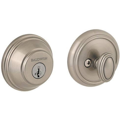 Baldwin 380-RDB-SMT Traditional Round Single Cylinder Deadbolt from the Prestige Collection - image 1 of 1