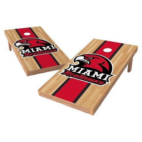 NCAA Wild Sports2' x 4' Heritage Design Authentic Cornhole Set Miami University RedHawks - image 1 of 1