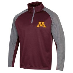 NCAA Minnesota Golden Gophers Men's Long Sleeve 1/4 Zip Fleece Sweatshirt