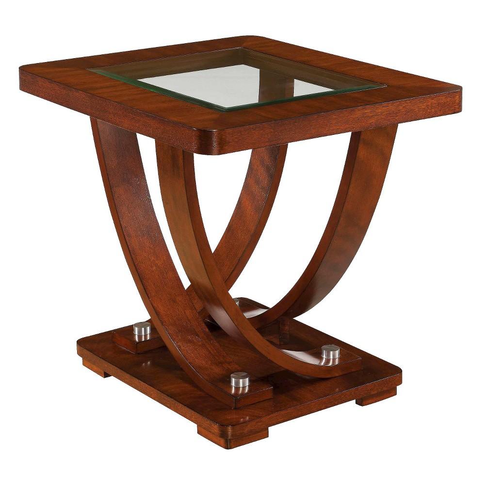 Pavilion Rectangular End Table Medium Brown - Magnussen Home