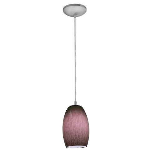 Chianti Cord Pendant Brushed Steel Finish - image 1 of 1