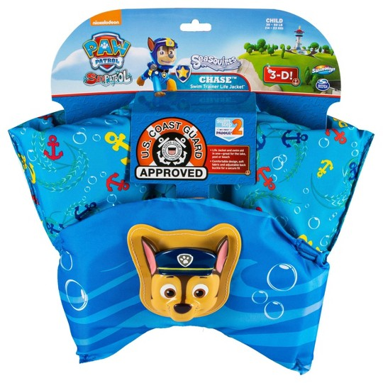 PAW Patrol Sea Squirts Swim Trainer Life Jacket 3D Licensed Chase image number null