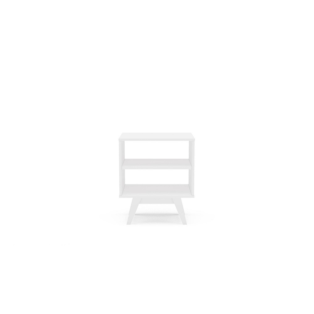 Image of Montreal Side Table with 2 Shelves White - Chique