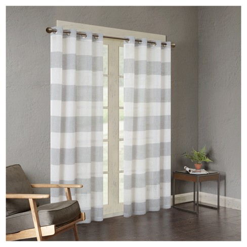 Elliot Yarn Dyed Woven Sheer Window Curtain Panel - image 1 of 3