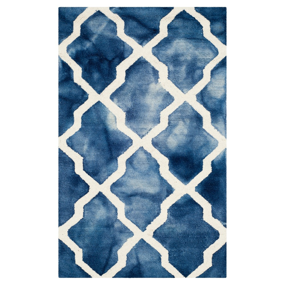 Page Accent Rug - Navy (Blue) / Ivory (2'6 X 4') - Safavieh