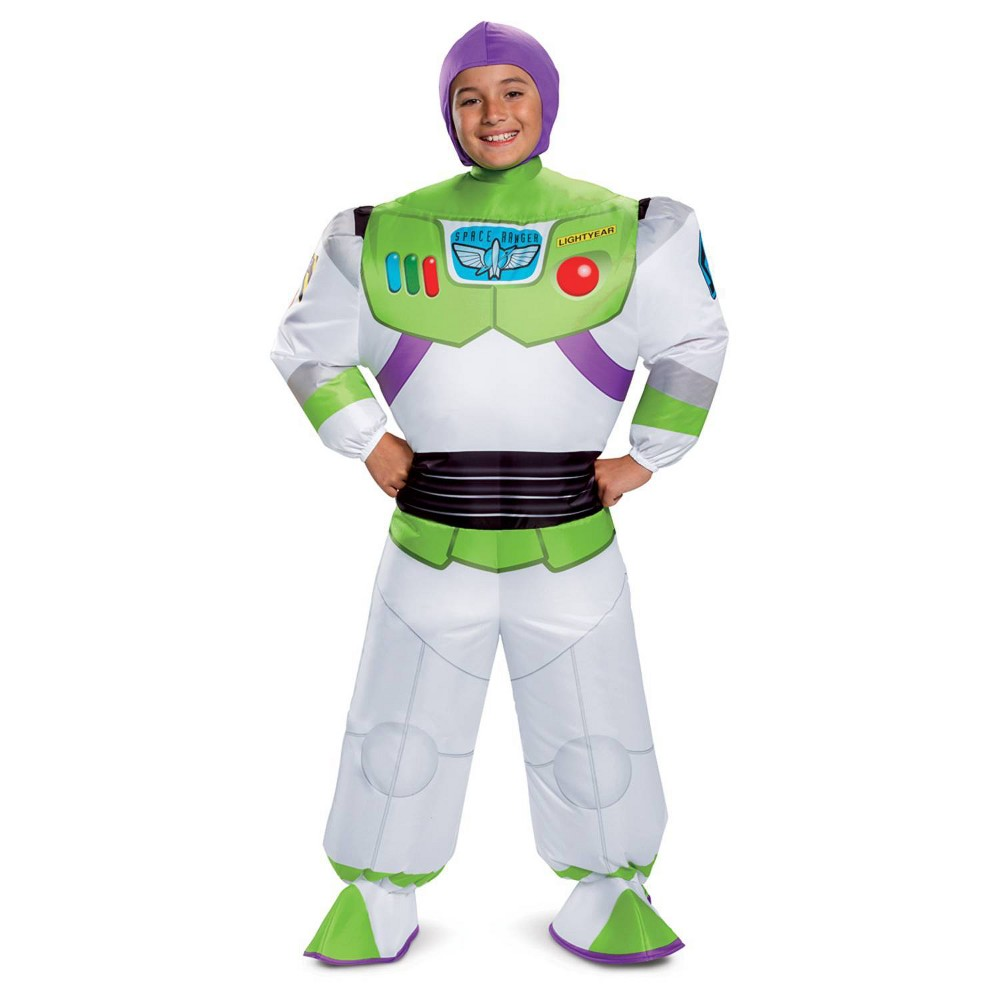 Image of Halloween Kids' Toy Story Buzz Lightyear Inflatable Halloween Costume One Size, Adult Unisex, MultiColored