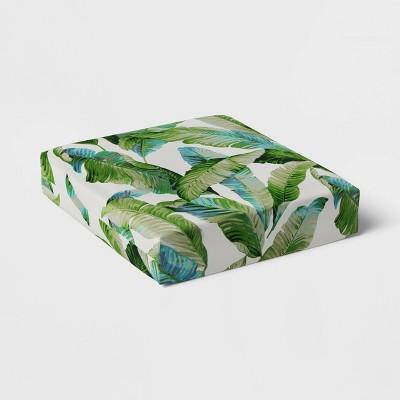Vacation Tropical Outdoor Deep Seat Cushion DuraSeason Fabric™ Green - Threshold™