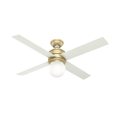 "52"" Hepburn Ceiling Fan with Wall Control (Includes LED Light Bulb) - Hunter Fan"