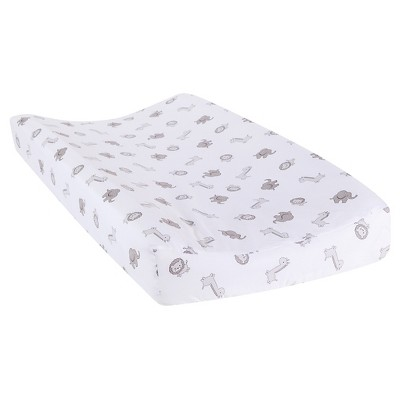Trend Lab Changing Pad Cover - Safari Chevron Animals