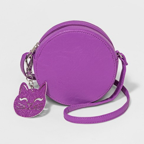 Girls' Canteen Crossbody Bag - Cat & Jack™ Purple - image 1 of 1