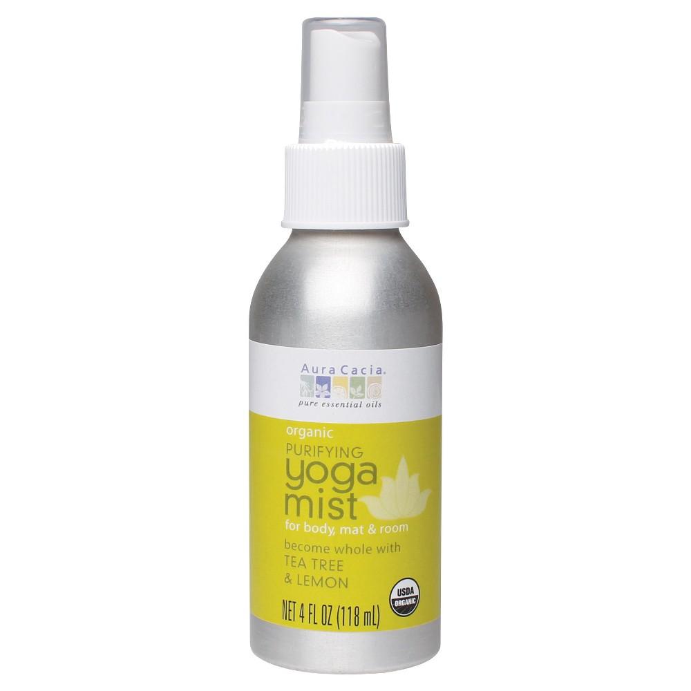 Aura Cacia Organic Purifying Yoga Women's Mist with Tea Tree and Lemon - 4oz