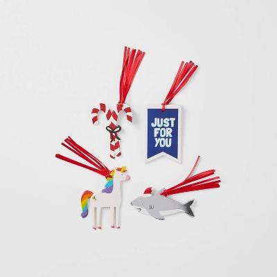 16ct Unicorn & Shark Sticker Gift Tags - Wondershop™