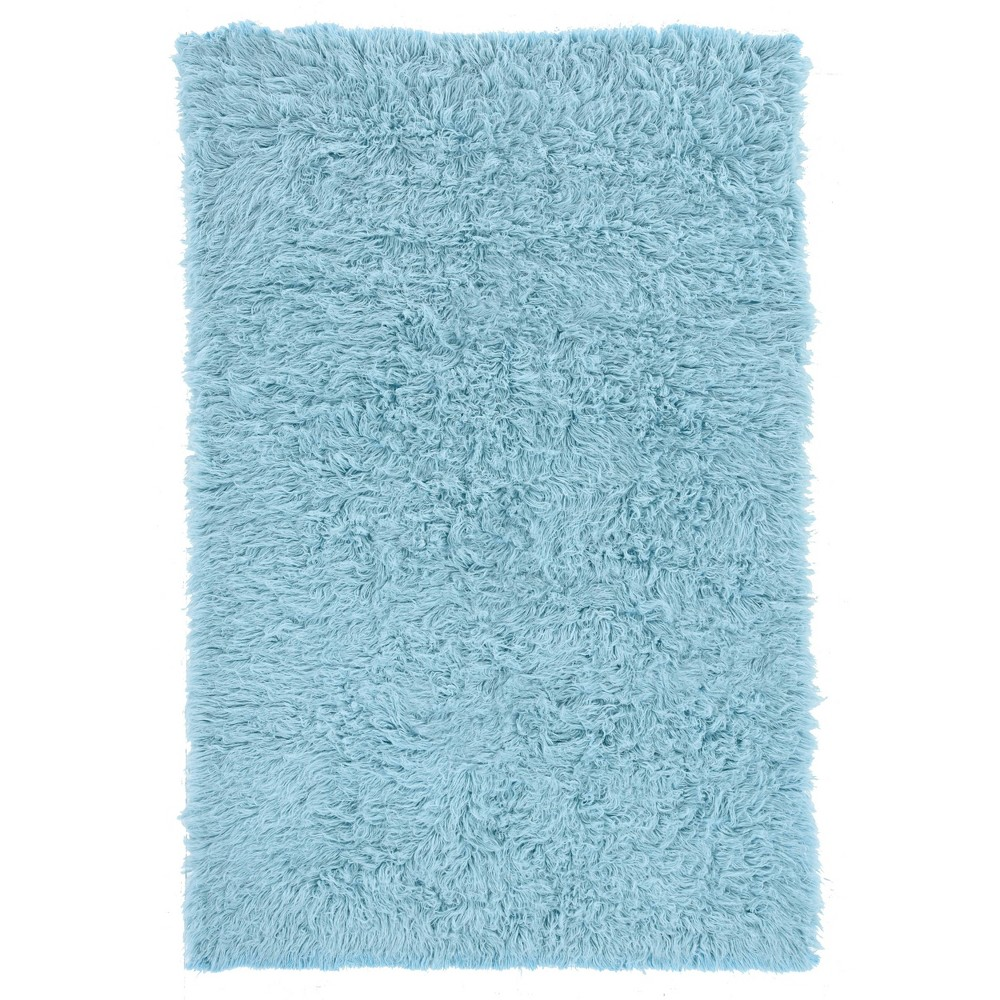 Cheap 8x10 100% New Zealand Wool Flokati Area Rug Light Blue - Linon