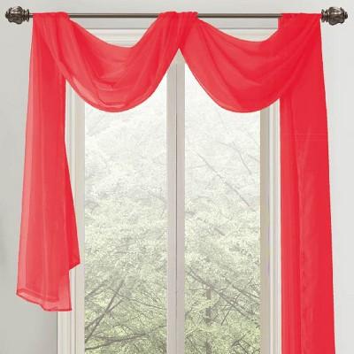 "Ramallah Trading Celine Sheer Curtain Scarf (55""x216"")"