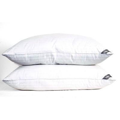 King 2pk Microgel Cotton Bed Pillow - NearlyDown