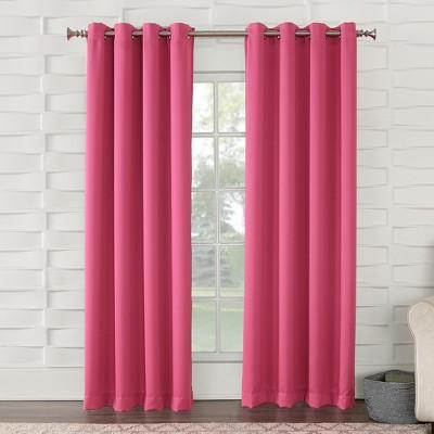 Seymour Energy Efficient Grommet Curtain Panel Pink 54 x63 - Sun Zero