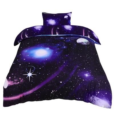 Polyester Galaxy Sky Cosmos Night Bedding Sets - PiccoCasa