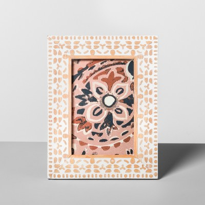 Carved Wood Frame White 4 x6  - Opalhouse™