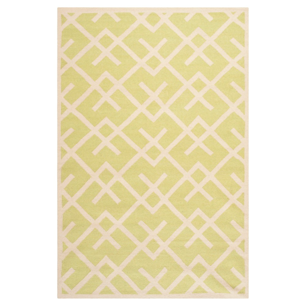 Tangier Dhurry Rug - Lighth Green/Ivory (5'x8') - Safavieh, Light Green/Ivory