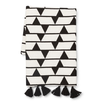 Jacquard Woven Throw - Black/White - Threshold™