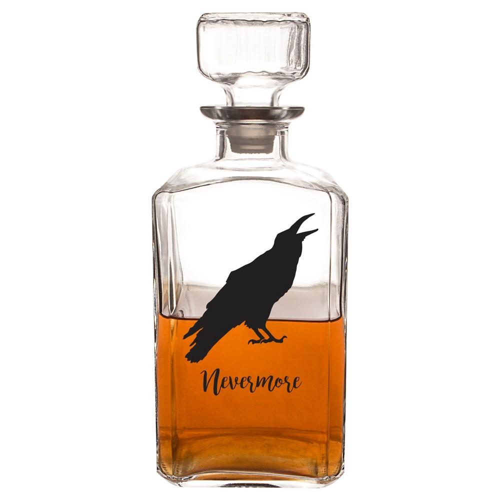 Halloween Raven Decanter, Clear