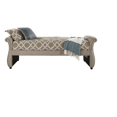Hunter Upholstered Backless Daybed Twin Linen Sandstone Fabric - Hillsdale Furniture