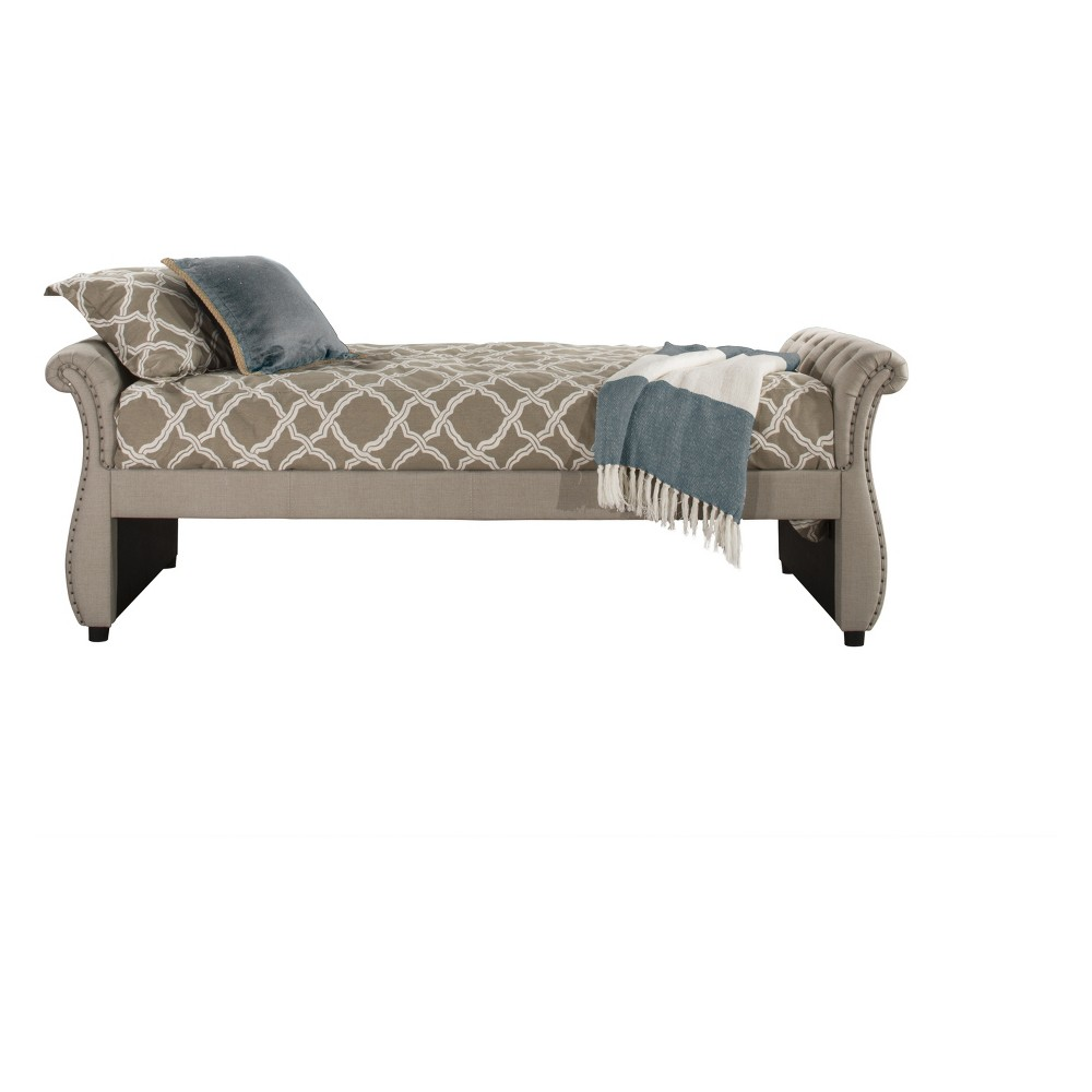 Hunter Upholstered Backless Daybed Twin Linen Sandstone Fabric - Hillsdale Furniture, Dark Off-White