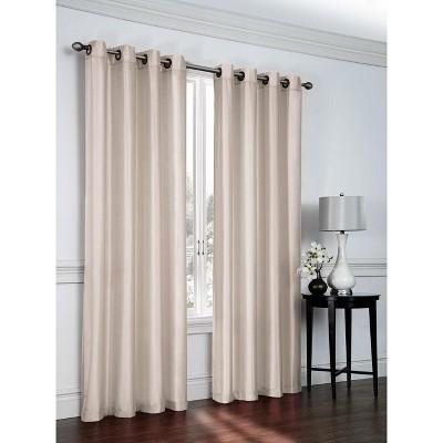GoodGram 2 Pack: Victoria Classics Faux Silk 84 in. L Grommet Curtains