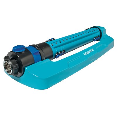 Aqua Joe AJ-OMS18-TRB Indestructible Metal Base Oscillating Sprinkler | Customizable Coverage | 4500 sq ft Max Coverage