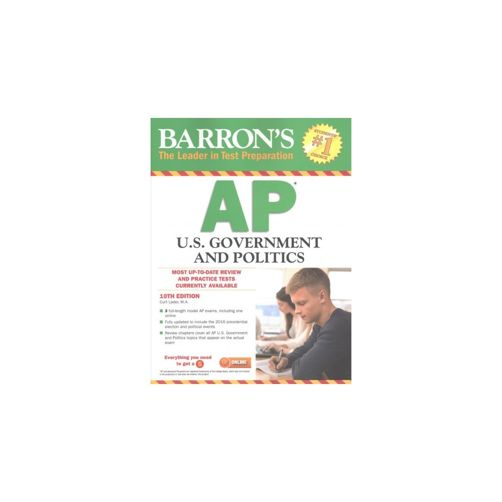 Barron's AP United States Government & Politics (Paperback) (Curt Lader)