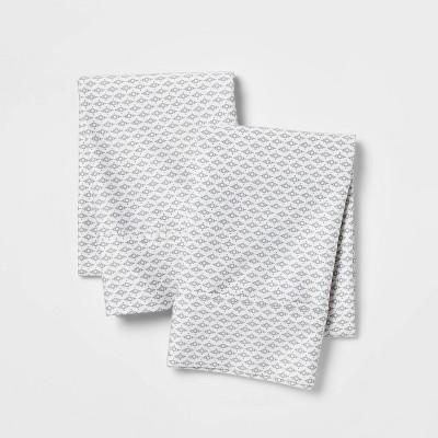 Performance Printed Pillowcase (King)Gray 400 Thread Count - Threshold™