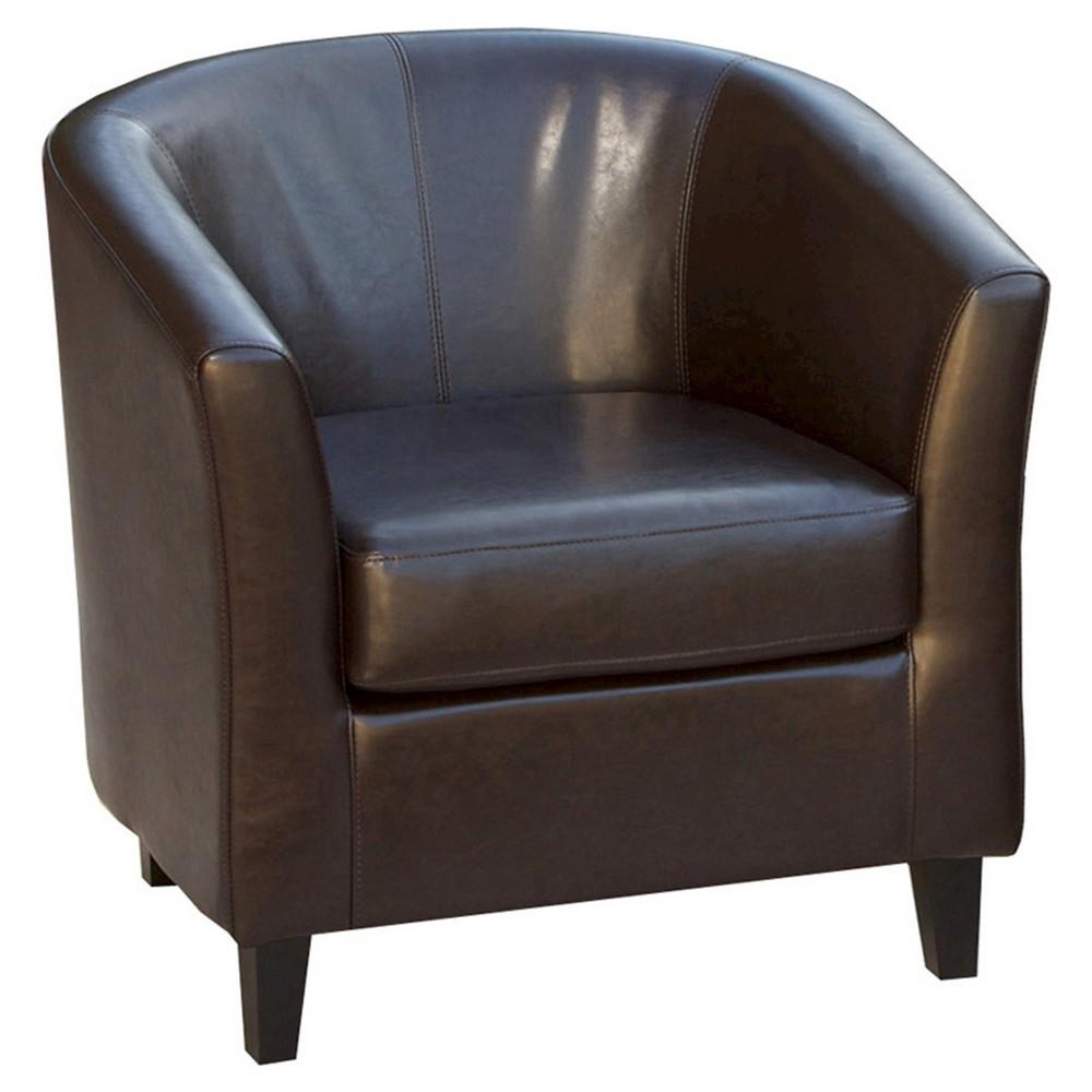 Preston Club Chair Brown - Christopher Knight Home